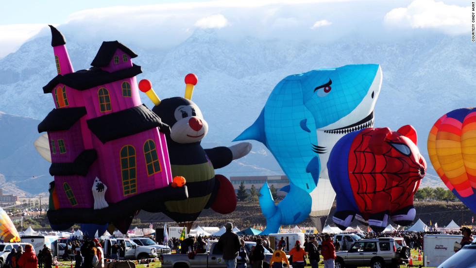 Albuquerque International Balloon Festival - Naturally, the huge gathering attracts a diversity of balloons. This year, the festival fleet will include a snowman, a fire engine, and even Darth Vader (or at least his head).