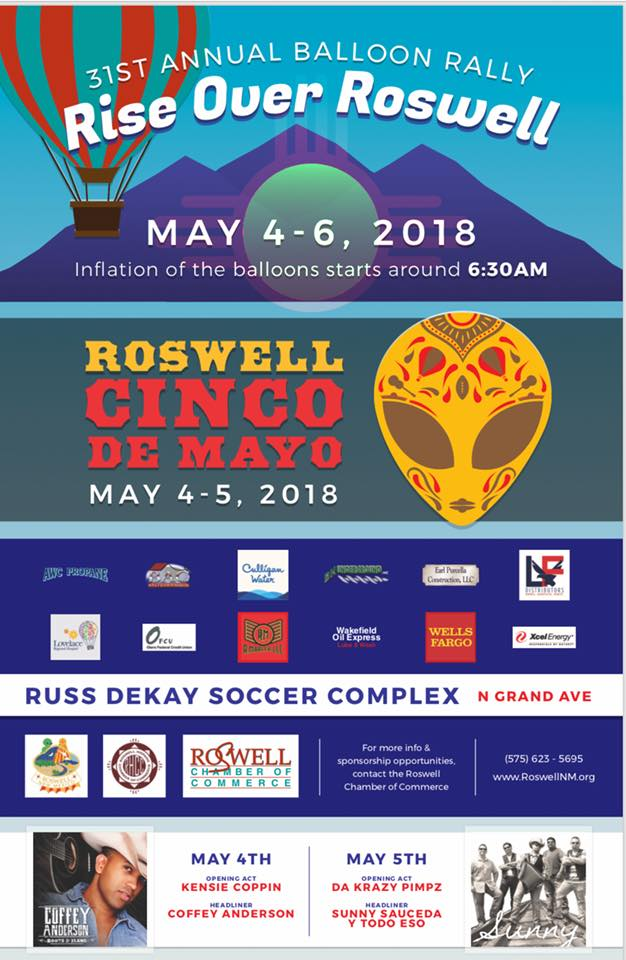 Rise over Roswell Annual Balloon Rally 2019? @ Russ DeKay Athletic Field - NMMI | Roswell | New Mexico | United States